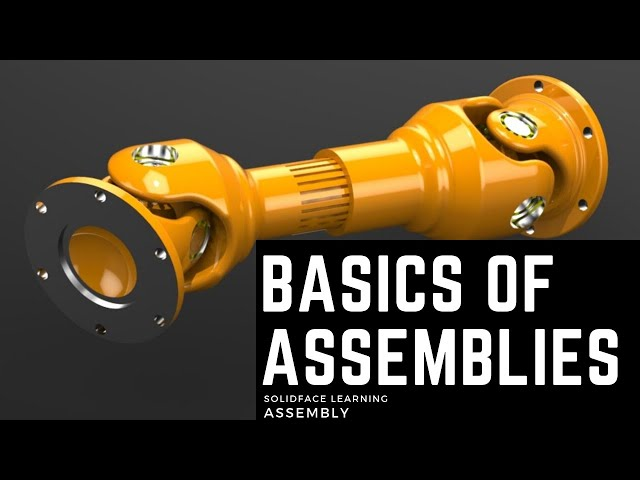 Learn how to use 3D Modeling Software - 31 - Basics of Assemblies