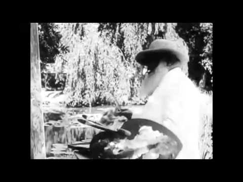 Film of Impressionist Painter Claude Monet at Work (authentic video)