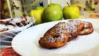 Десерт получается как ПУХ. Вкуснейшие ЯБЛОКИ В КЛЯРЕ. Рецепт  ЯБЛОКИ в снегу на сковороде К ЧАЮ