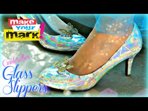 How to:  Cinderella's Glass Slippers DIY