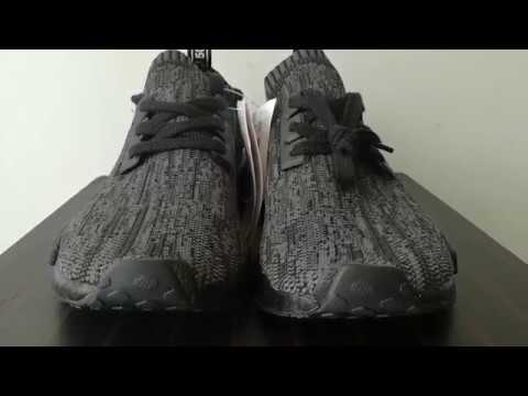 507937e754327 Replica NMD R1 Pitch Black - YouTube