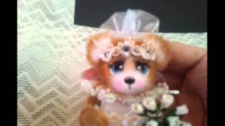 Bride Tear Bear for scrapbook pages, cards or album