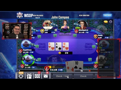 Play And Chat - John Playing Some WSOP Poker