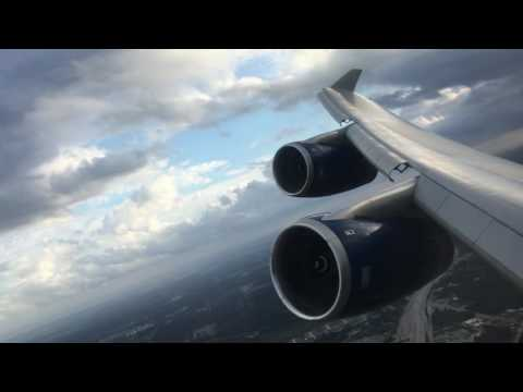 Epic Boeing 747-400 takeoff from Houston