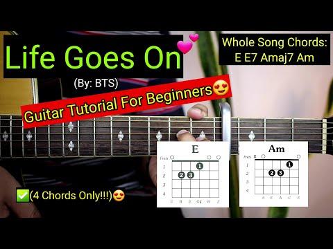 Life Goes On - BTS (Super Easy Chords)😍   Guitar Tutorial