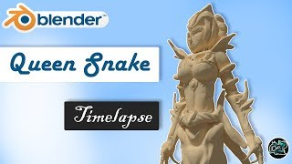 Queen Snake || Blender Sculpting Timelapse
