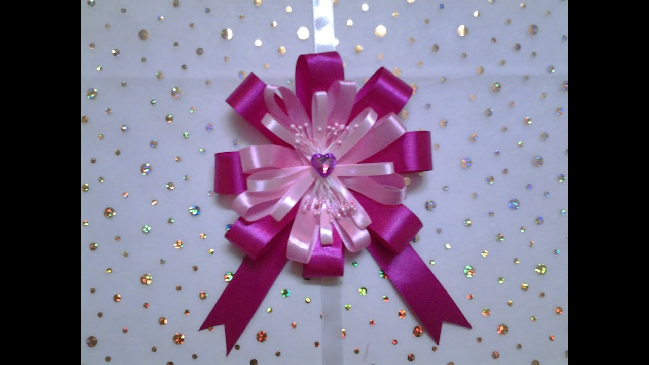 how to make a gift wrap bow out of ribbon