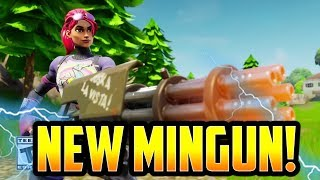 *NEW* MINIGUN GAMEPLAY in FORTNITE BATTLE ROYALE!! NEW V.2.4 PATCH NOTES