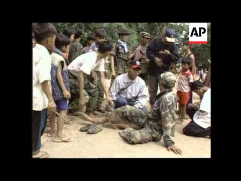 Cambodia - Casualties arrive at medical base