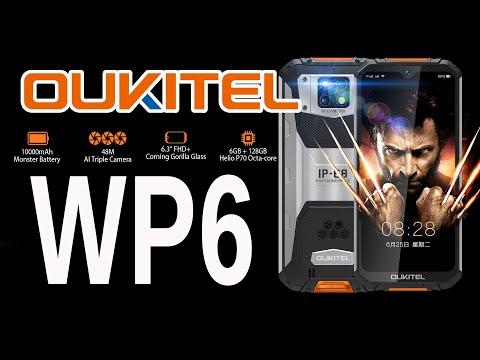 Oukitel WP6 - три камеры, защита IP68 и аккумулятор на 10 000 мАч