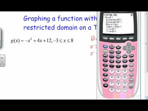 Restricted domain function on a ti 84 youtube restricted domain function on a ti 84 ccuart Choice Image