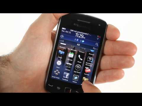 BlackBerry Curve 9380 user interface demo