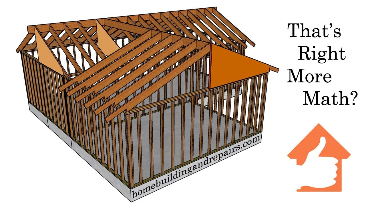How To Calculate Roof Ridge Height And Rafter Length