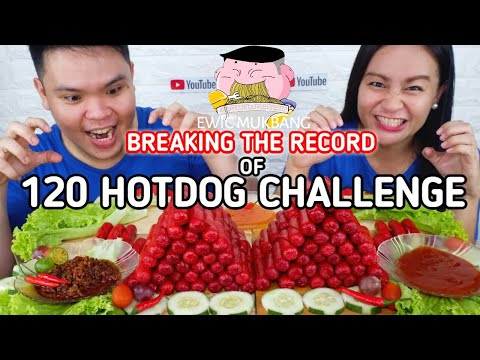Breaking The Record Of 120 Pieces Purefoods Hotdog Challenge Filipino Mukbang / Mukbang Philiipines
