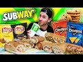 THE SUPERCHARGED SUBWAY MENU CHALLENGE! (8,000+ CALORIES)