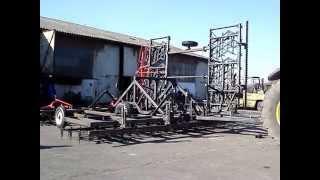 Brony hydraulicznie składane 18 polowe z włóką i wałkami Almet Kuźmicz Dzierzgoń składanie ramy