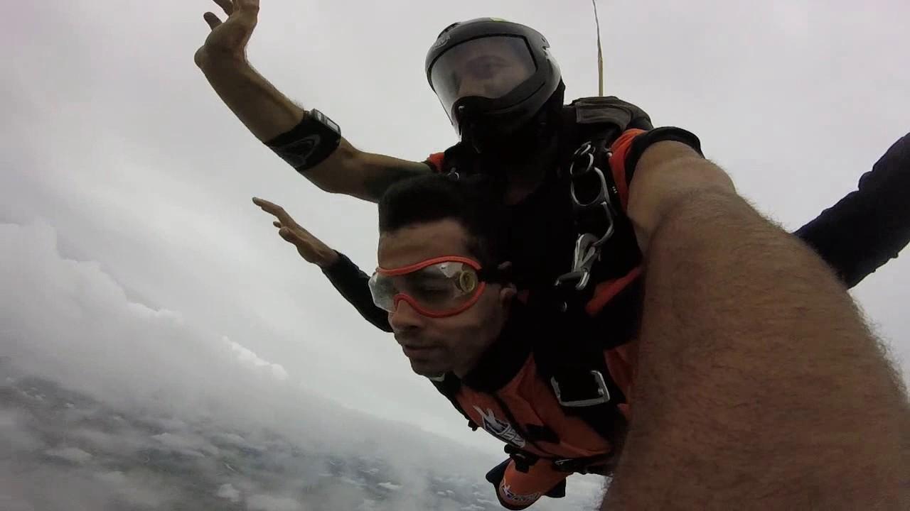 Salto de Paraquedas do Fernando na Queda Livre Paraquedismo 20 01 2017