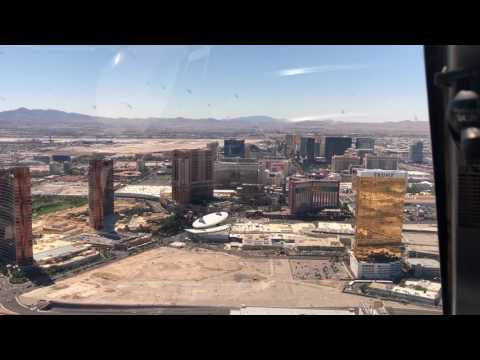 Helicopter flight from Old Town to The Strip, Las Vegas