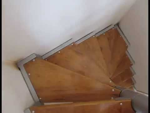 Escalera tipo avi n escalera caracol youtube for Como hacer una escalera de concreto con descanso