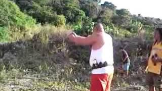 marlon salazar and mike diaz, practice firing in boracay island