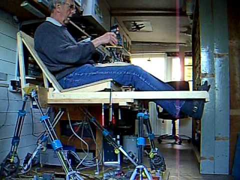 Flight Simulator Chair Motion Microfiber Dining Hi6sim-f2 6dof Diy Platform - Youtube