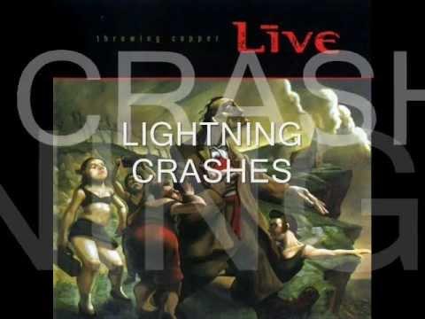 Lightning Crashes with Lyrics - Live