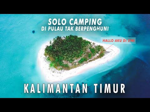 SOLO CAMPING ON An Uninhabited tropical island Borneo - FISHING WIND STORM COCONUT - Kaniungan kecil