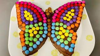 Торт Бабочка с Шоколадно-Масляным Кремом и Смартис! Идеальный Торт для Детского Праздника!