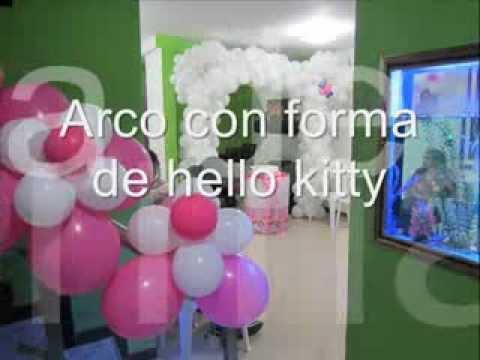 Decoraci n con globos hello kitty youtube - Decoracion hello kitty ...