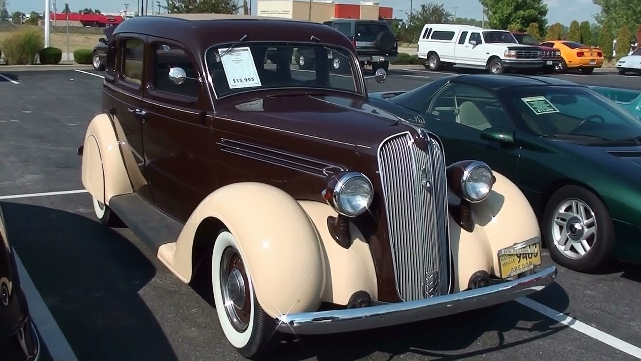 1936 plymouth sedan suicide doors flathead six youtube for 1936 plymouth 4 door
