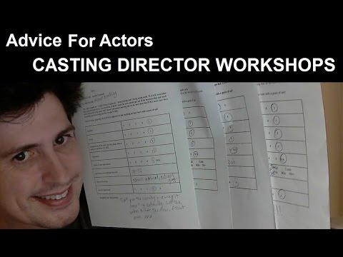 Advice For Actors - Casting Director and Agent Workshops