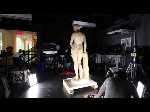 "3D scanning Hiram Powers' ""Greek Slave"" plaster - Time-lapse"