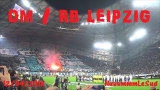 Marseille-OM/RB Leipzig-12/04/2018-Entrée des joueurs-Tifos-Ambiances-Sortie du stade