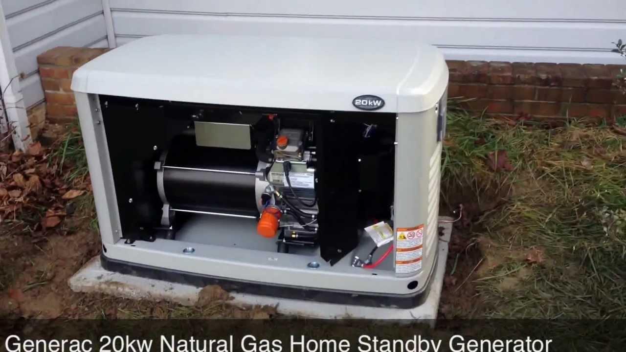 10kw Standby Generator Wiring Diagram Generac 20kw Natural Gas Home Standby Generator Youtube