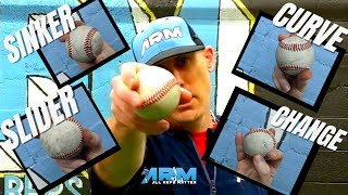 4 Killer Pitch Grİps - How To Throw A Sinker, Slider, Curve & Change up