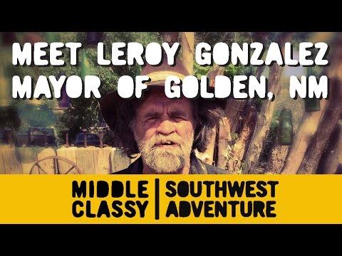 Leroy Gonzales' front yard in Golden, NM