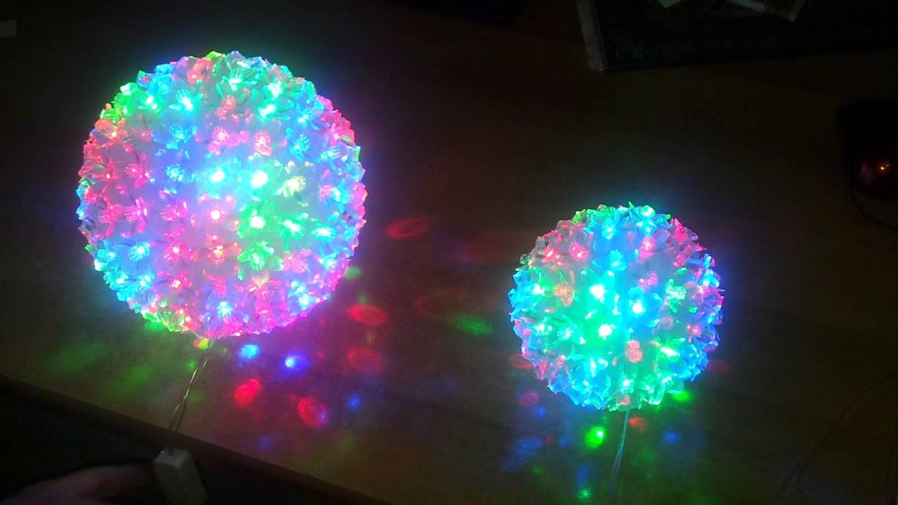 Sfere palla addobbo floreali natalizie luminose led youtube for Luci da interno a led