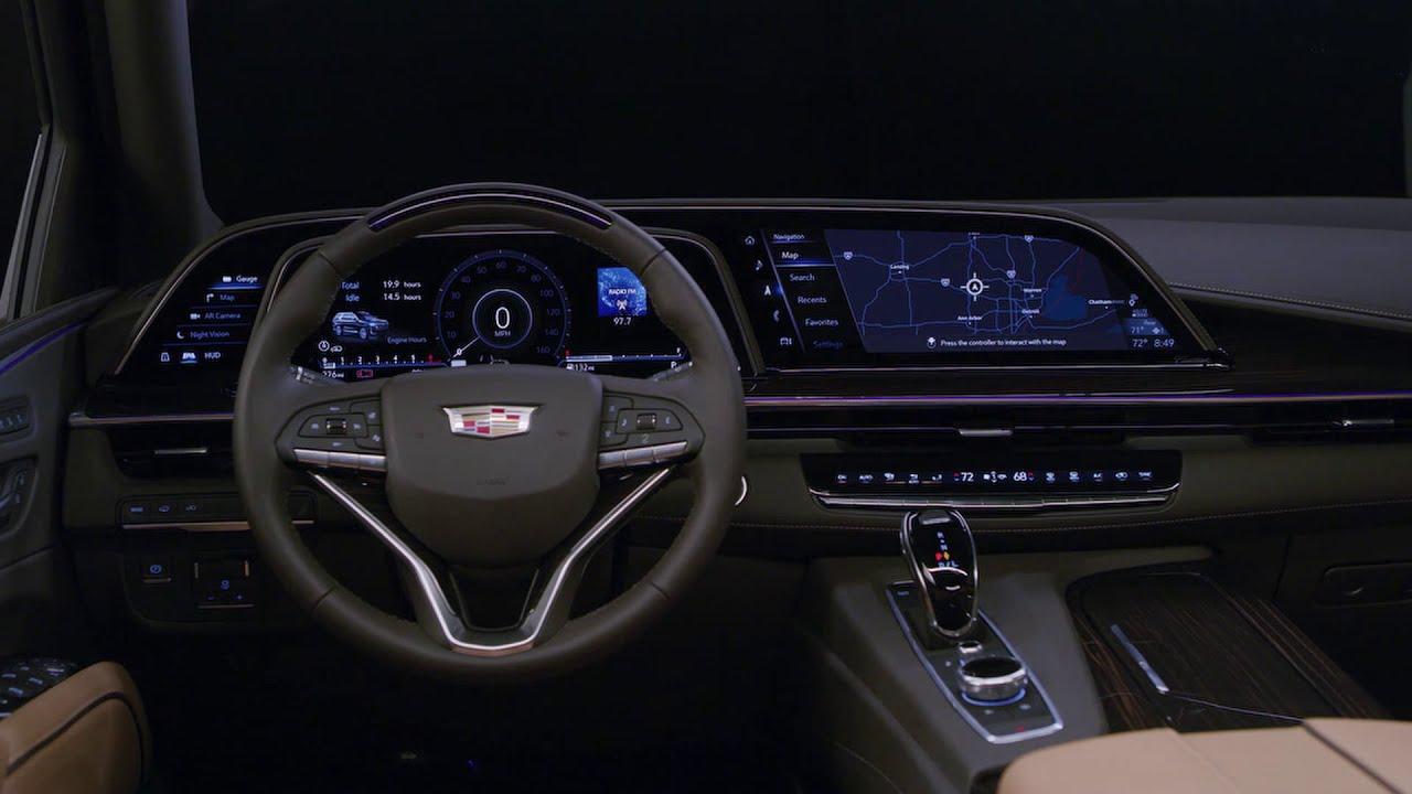 FIRST LOOK: 2021 Cadillac Escalade Interior Design - YouTube