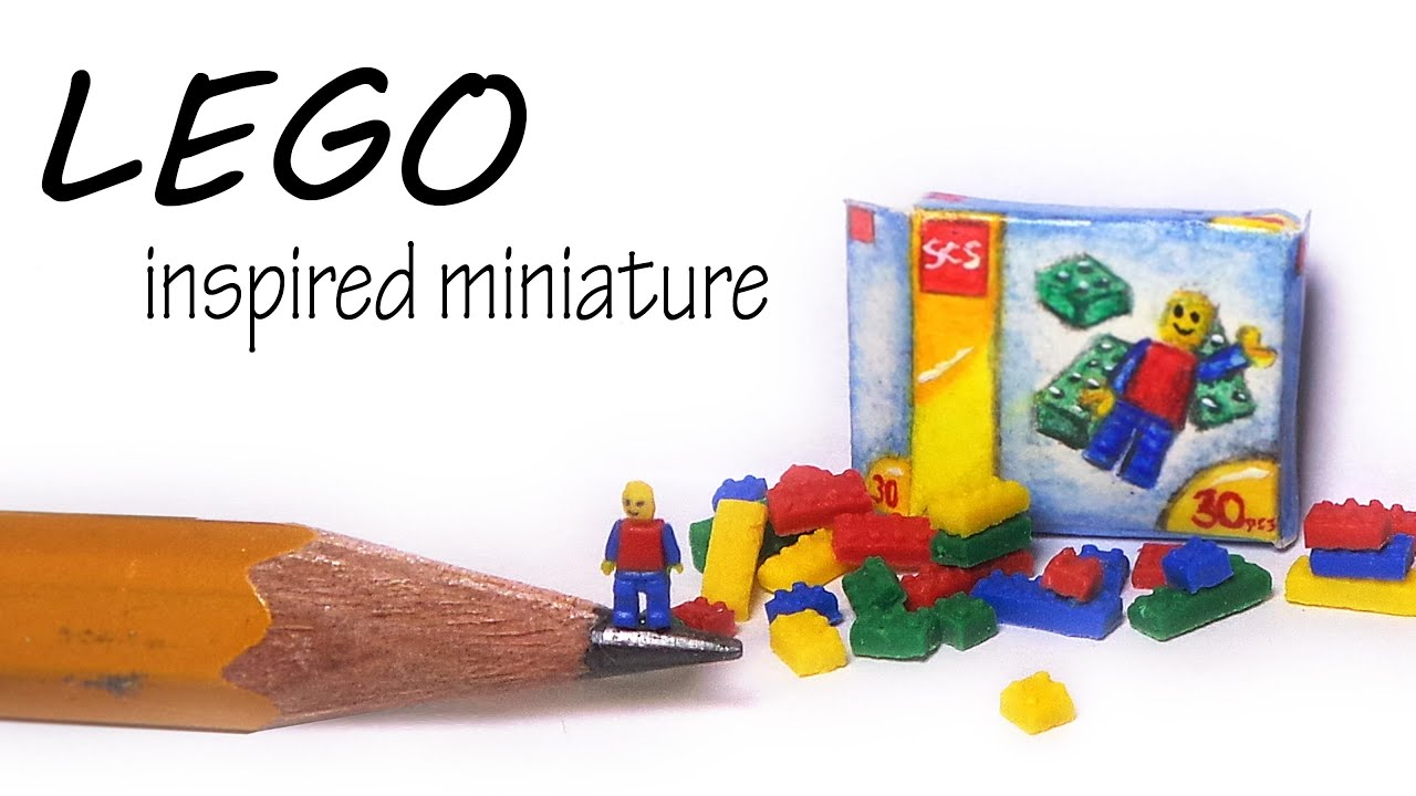Lego Inspired Miniature Lego Inspired Polymer Clay Tutorial Youtube