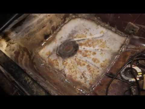 Welded in rear floor pan
