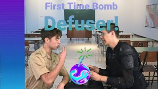 A Rookie's First Time Defusing A Live Bomb!