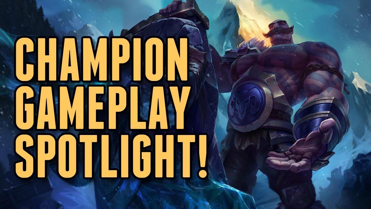 Full Braum The Heart of Freljord Champion Spotlight ...League Of Legends Freljord Champions