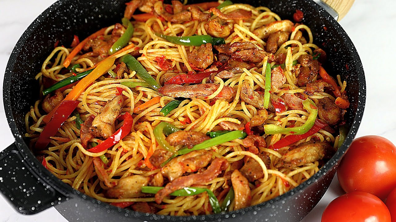 Download EXTRA SPECIAL STIR FRY SPAGHETTI | CHICKEN STIR FRY WITH PASTA