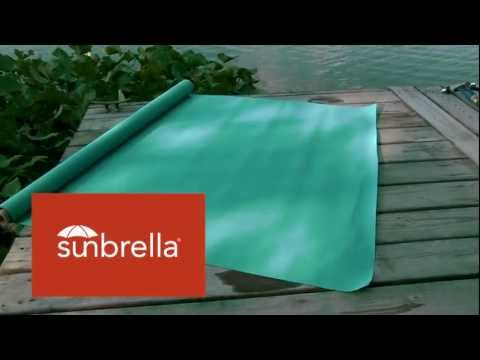 Video of Sunbrella Aruba Marine Grade fabric 4612-0000