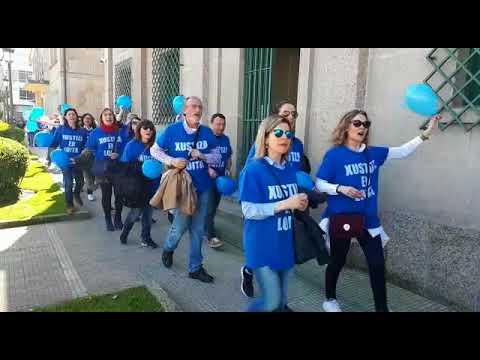 O funcionariado de Xustiza mobilízase en Marín