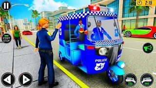 POLICE TUK TUK AUTO RICKSHAW DRIVING GAME 2020 | POLICE 🛺 DRIVING screenshot 2
