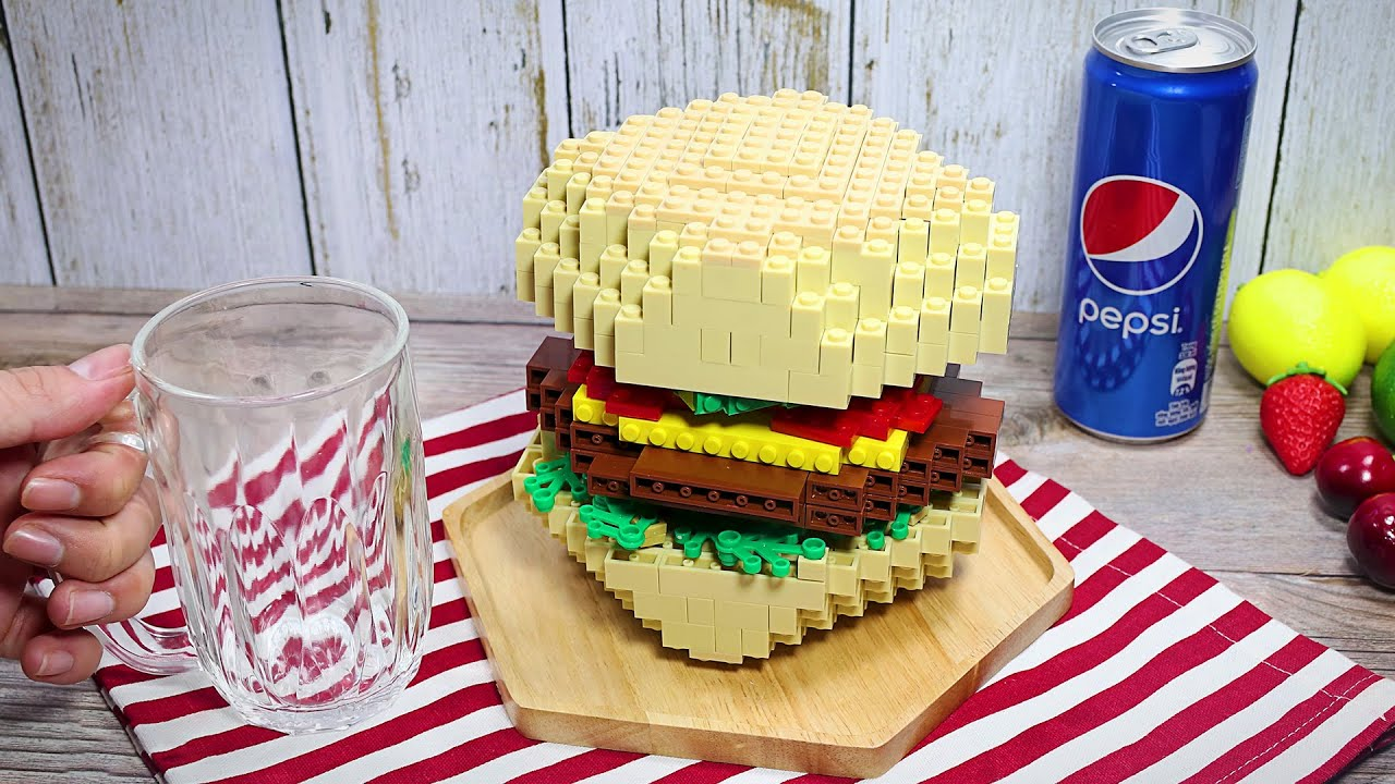 Download Eating Lego Burger In Real Life   Stop Motion Cooking & ASMR Funny Video 4K