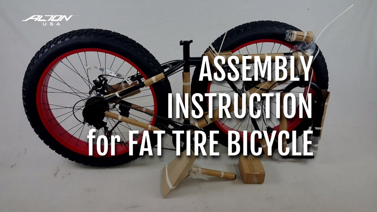 Assembly Instruction For Fat Tire Bicycle Torino Youtube