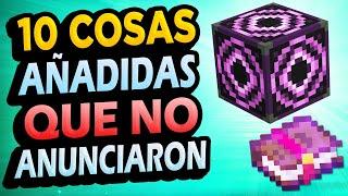 ✅ 10 Cosas AÑADIDAS a Minecraft QUE NO ANUNCIARON!! #2
