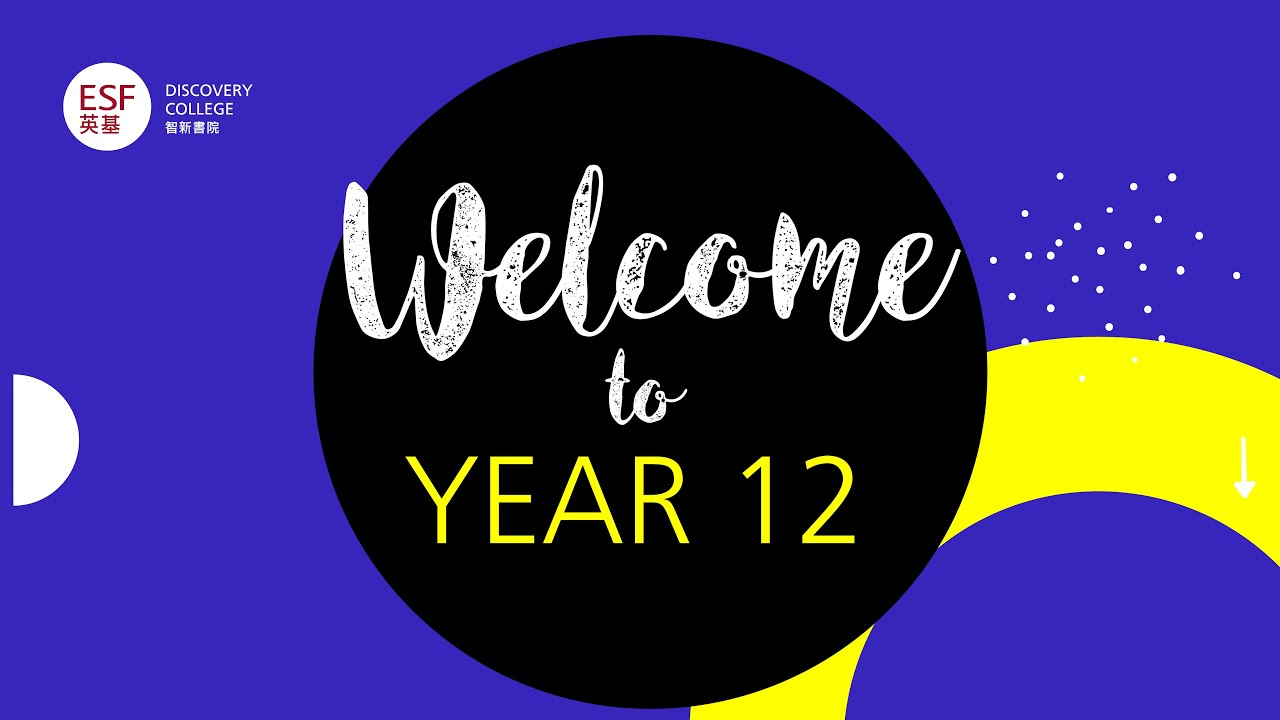 Welcome to Year 12 & 13